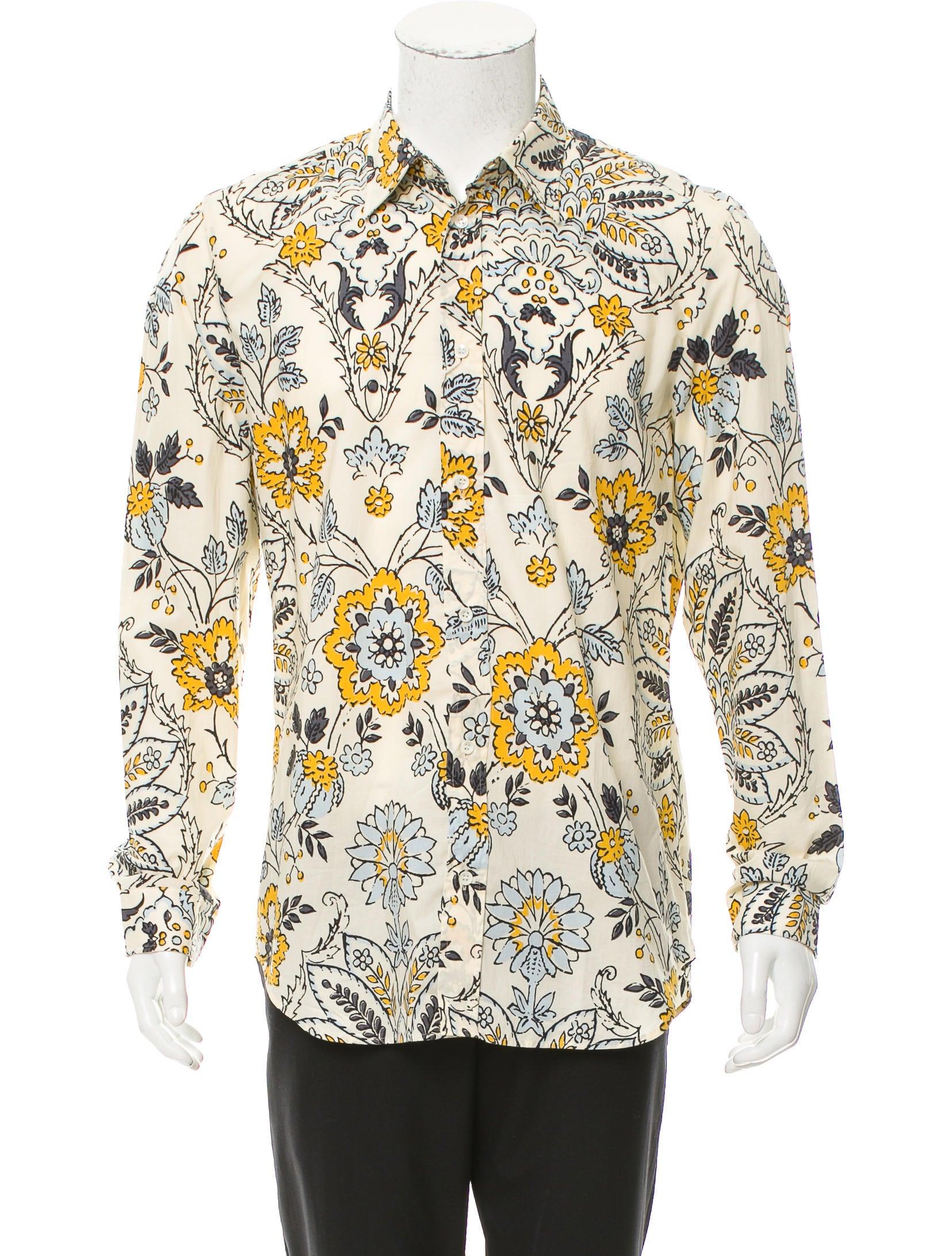 Maison margiela floral print button up shirt w tags for Floral print button up shirt