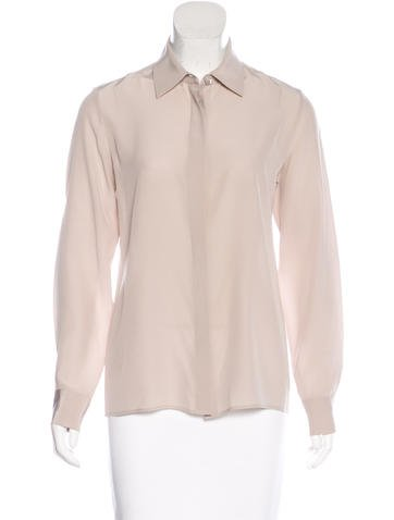 Maison Margiela Long Sleeve Button-Up Top None