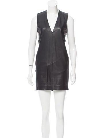 Maison Margiela Leather Sleeveless Dress None