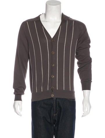 Maison Margiela Striped Knit Cardigan None