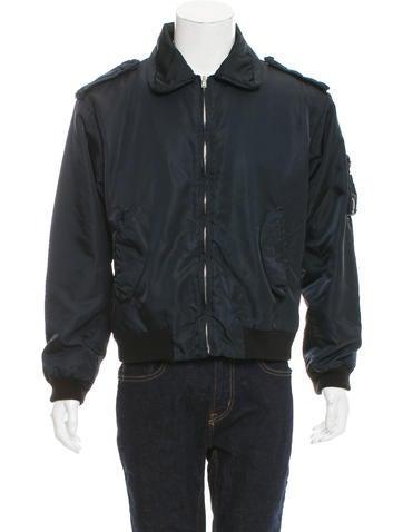 Maison Margiela Vintage Rib Knit-Trimmed Bomber Jacket None