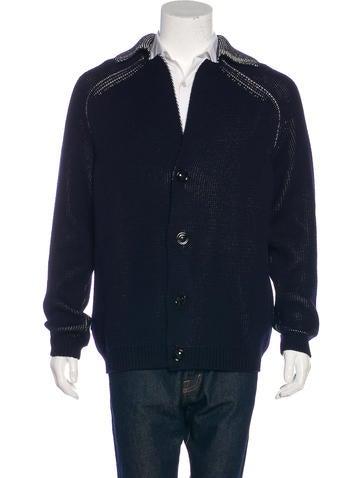 Maison Margiela Wool-Blend Knit Cardigan None