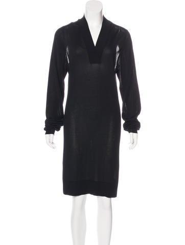 Maison Margiela Long Sleeve Knit Dress None