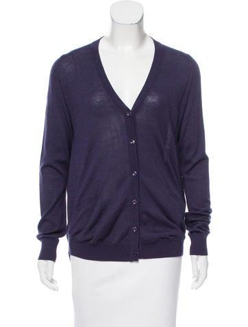 Maison Margiela Wool Button-Up Cardigan None