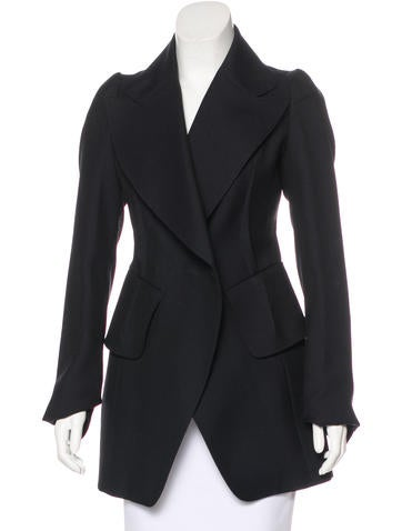 Maison Margiela Wool & Mohair-Blend Short Coat None