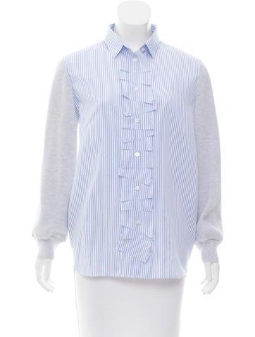 Maison Margiela Striped Knit Top None