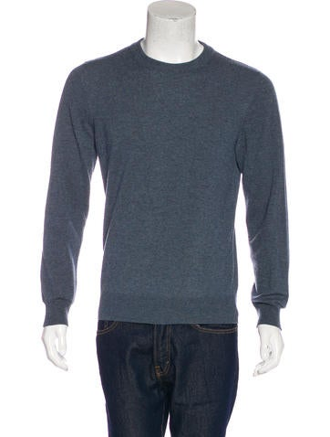 Maison Margiela Suede-Trimmed Wool Sweater None
