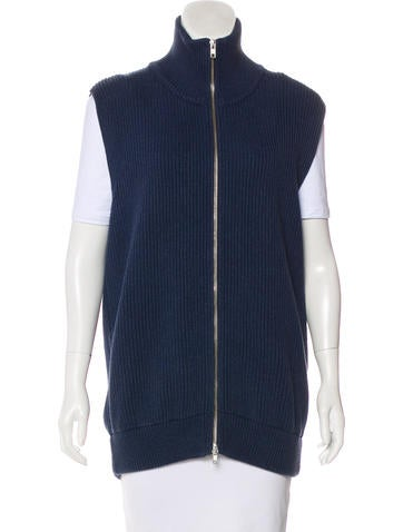 Maison Margiela Sleeveless Rib Knit Cardigan None