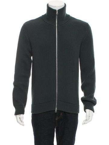 Maison Margiela Wool Zip-Up Sweater None