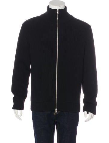 Maison Margiela Wool Rib Knit Jacket None