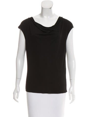 Maison Martin Margiela Sleeveless Cowl Neck Top None