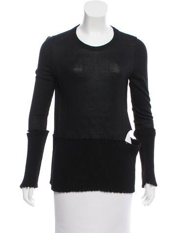 Maison Margiela Cutout Lightweight Sweater None
