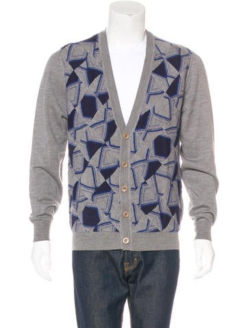 Maison Margiela Geometric Wool Cardigan None