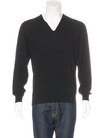 Maison Margiela Cashmere V-Neck Sweater None
