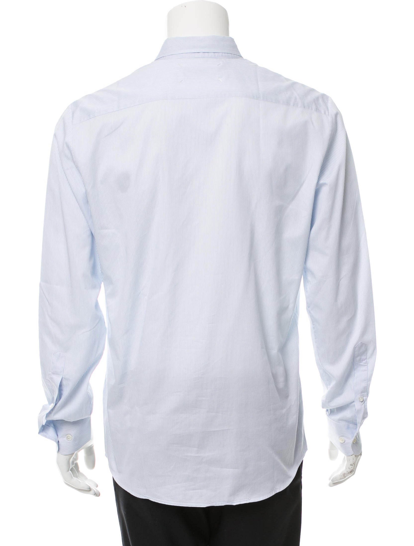 Maison margiela striped button up shirt clothing for Striped button up shirt mens