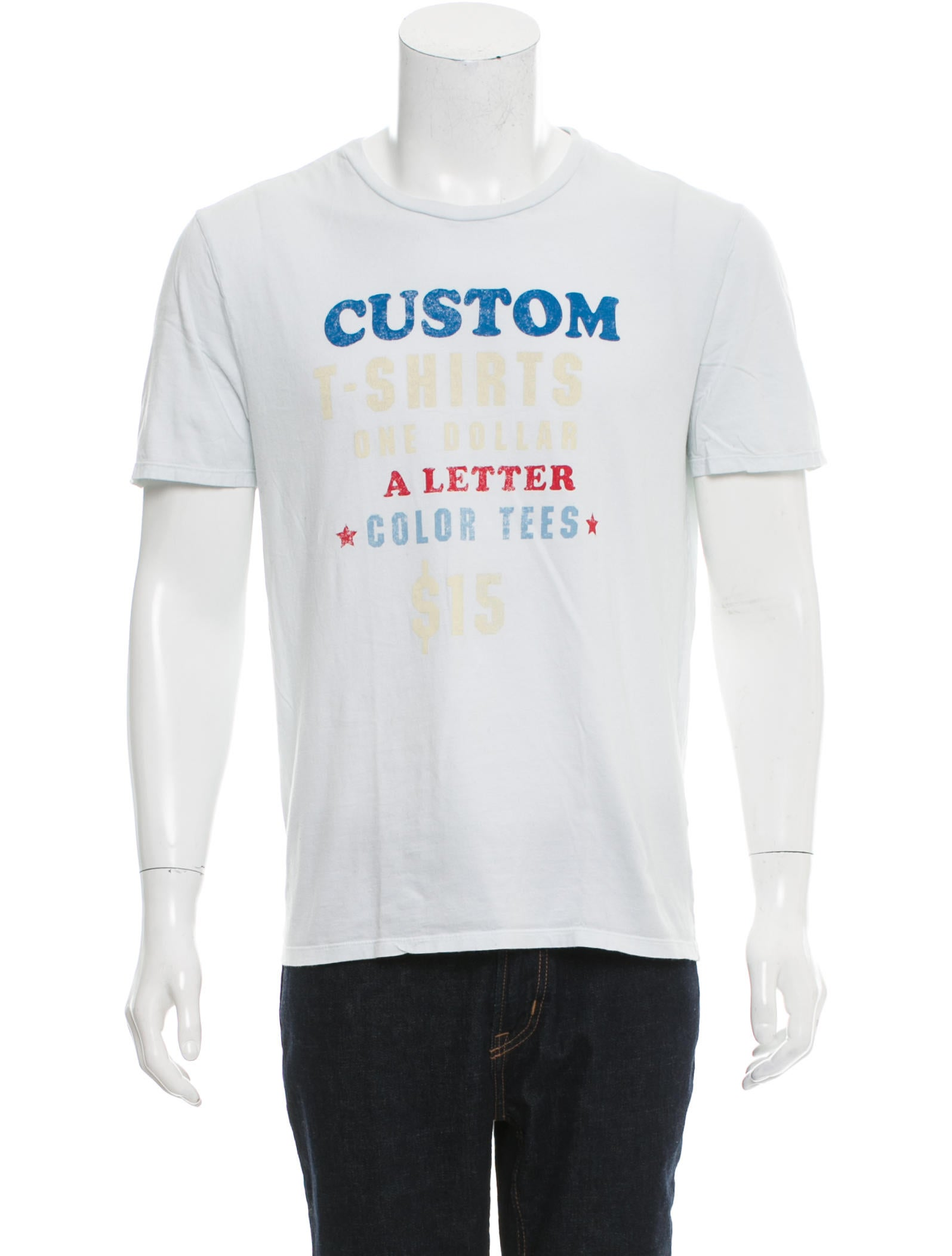 Maison margiela custom print crew neck t shirt clothing for Custom printed dress shirts