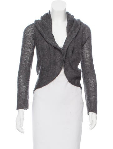 Maison Margiela Wool & Mohair-Blend Cardigan None