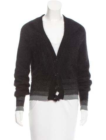Maison Margiela Textured Wool Cardigan None