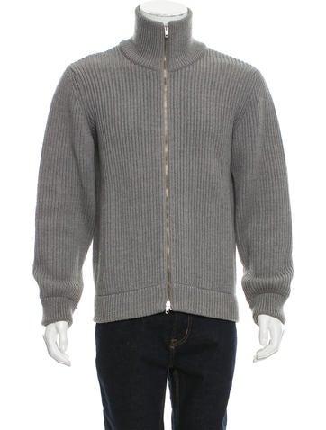 Maison Margiela Wool Rib Knit Cardigan None