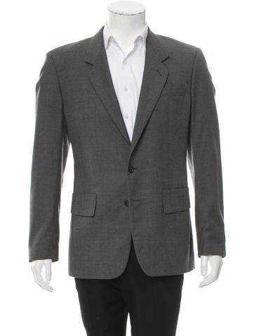 Maison Margiela Wool Two-Button Blazer None