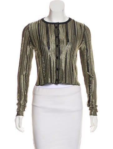 Maison Margiela Metallic Knit Cardigan None