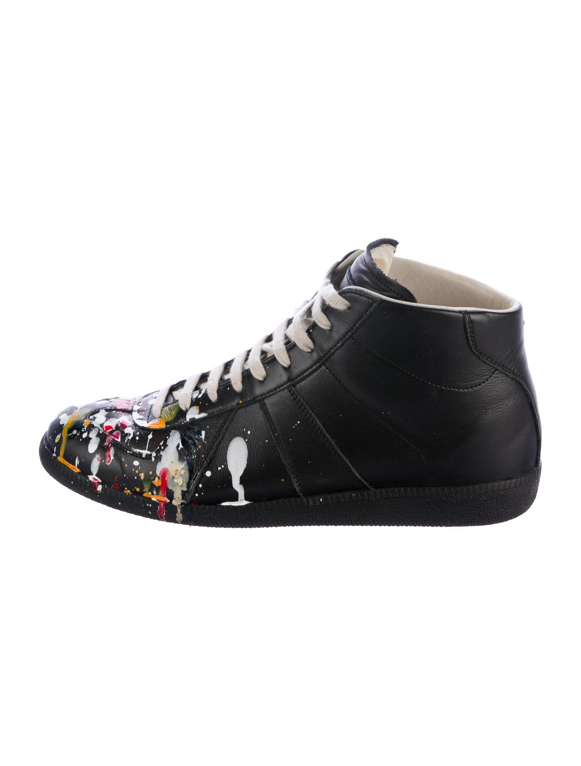 maison margiela paint splatter replica sneakers shoes mai32557 the realreal. Black Bedroom Furniture Sets. Home Design Ideas