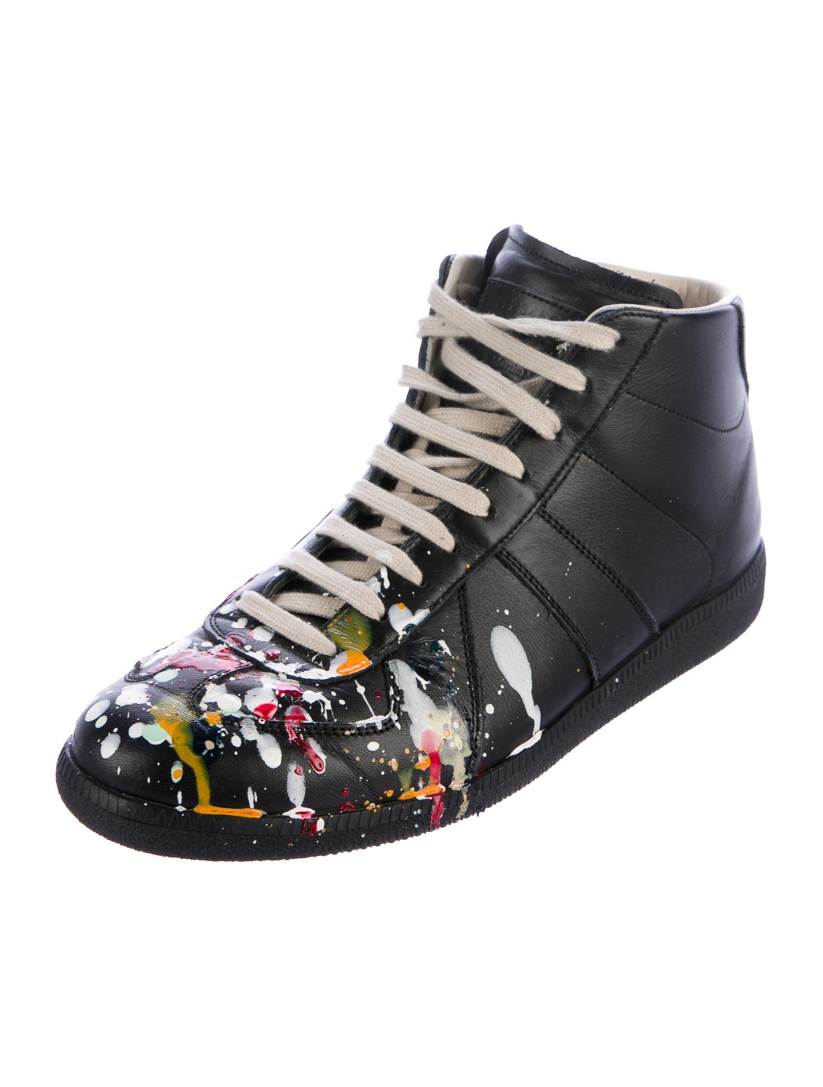 maison margiela paint splatter replica sneakers shoes mai32557 the realreal. Black Bedroom Furniture Sets. Home Design Ideas
