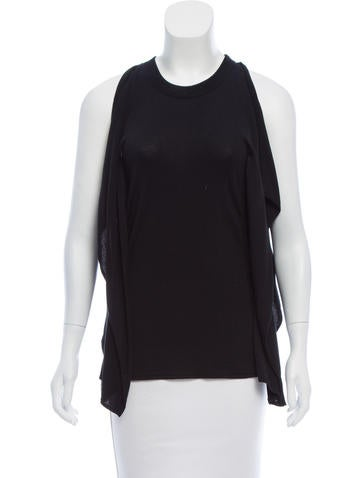 Maison Margiela Draped Sleeveless Sweater None