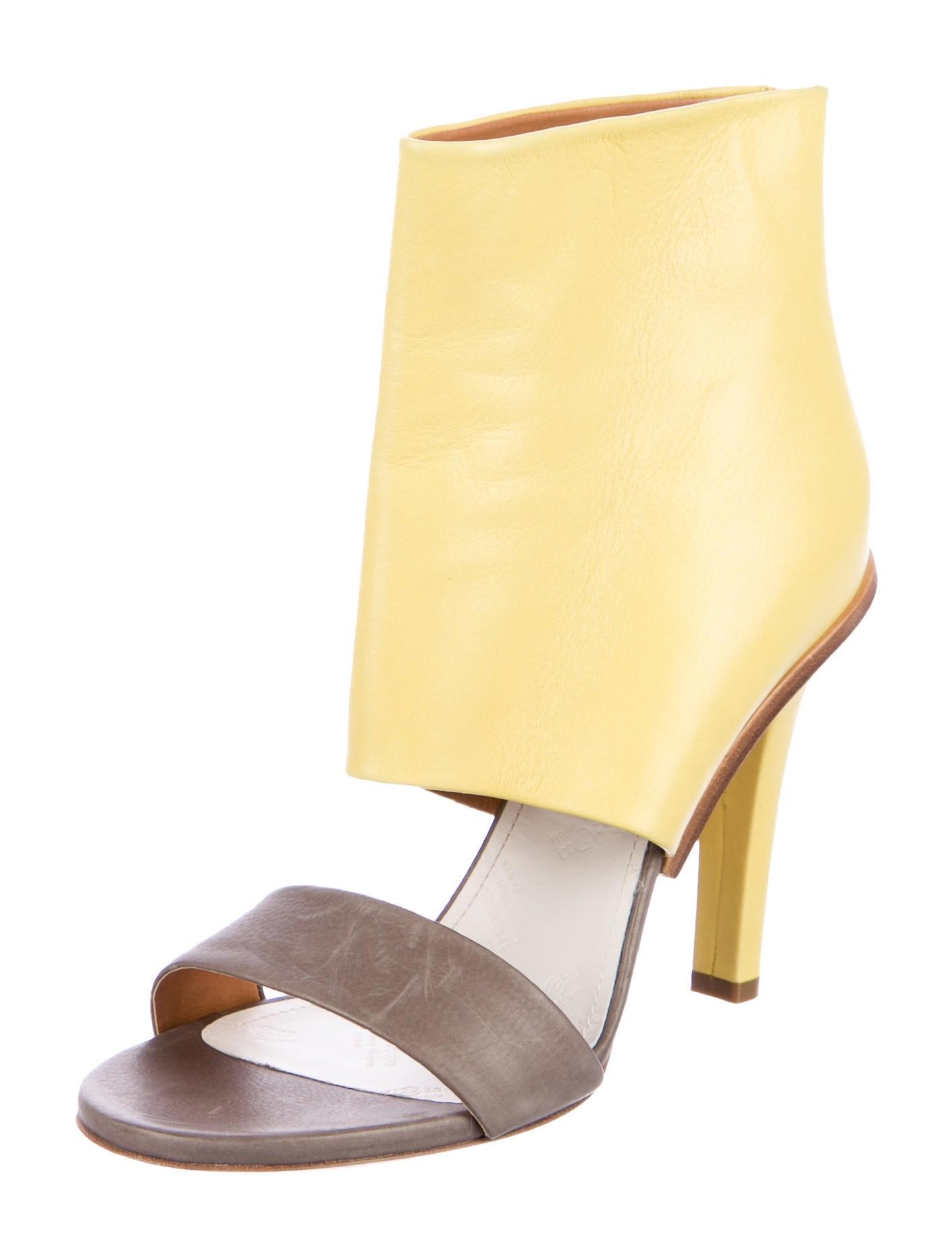 Maison Margiela Leather Bi-Color Sandals cheap sale best supply cheap price buy cheap deals best sale very cheap price 20qR8