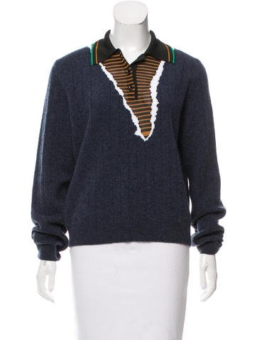 Maison Margiela Pointed Collar Wool Sweater None