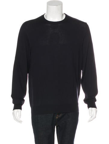 Maison Margiela Wool-Blend Leather-Trimmed Sweater None