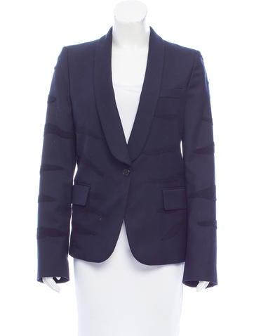 Maison Margiela Patterned Wool Blazer None
