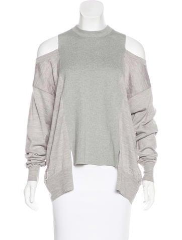 Maison Margiela Wool-Blend Cold-Shoulder Sweater None