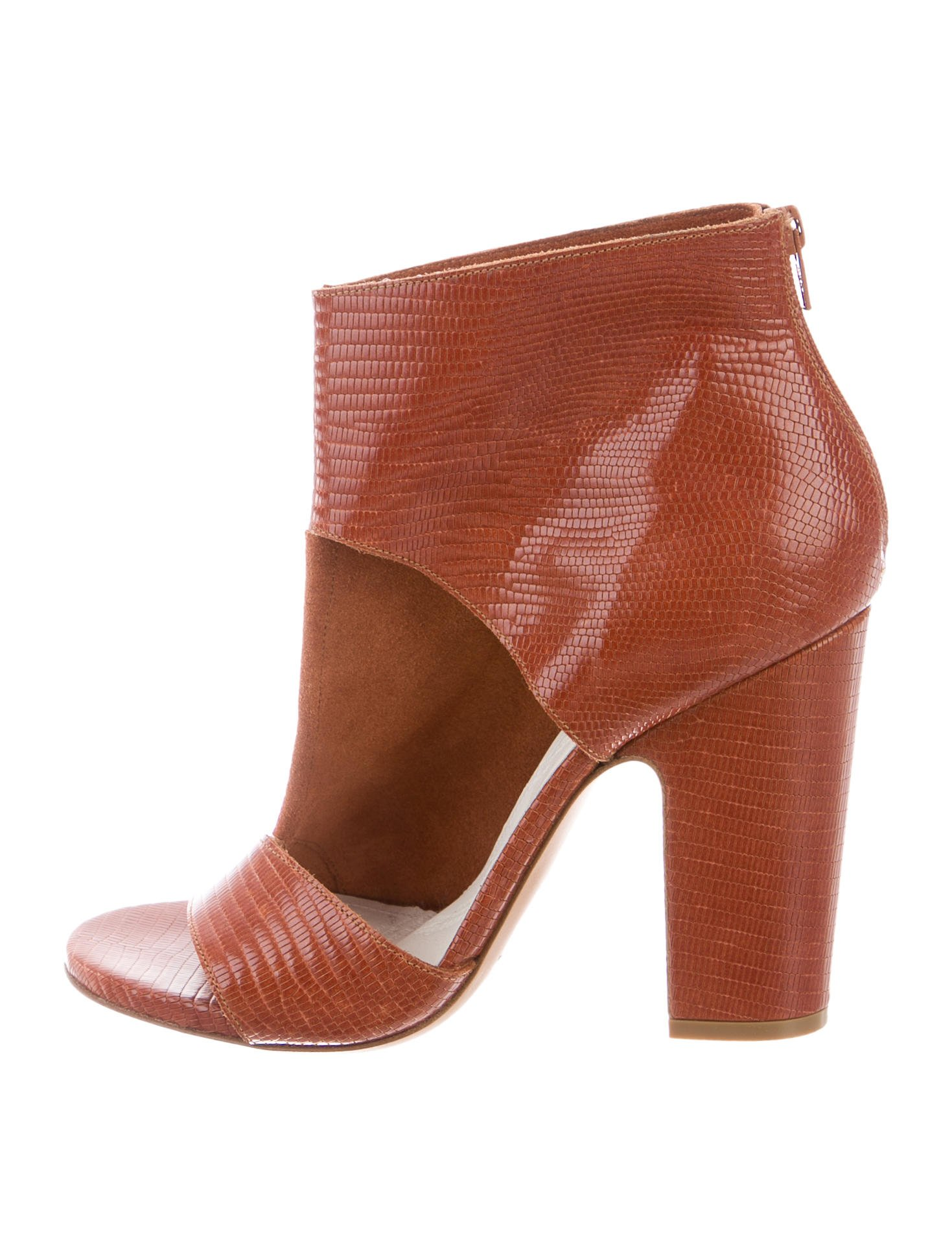 Maison Margiela Embossed Peep-Toe Ankle Boots discount perfect cheap sale footlocker finishline genuine online discount footaction buy cheap the cheapest q7CIRzA