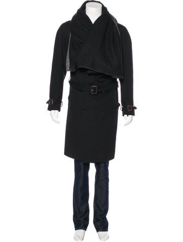 Maison Margiela Shawl-Accented Double-Breasted Wool Coat None