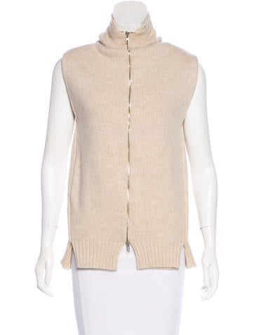 Maison Margiela Merino Wool Sleeveless Sweater None