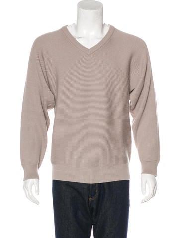 Maison Margiela Wool Rib Knit Sweater None