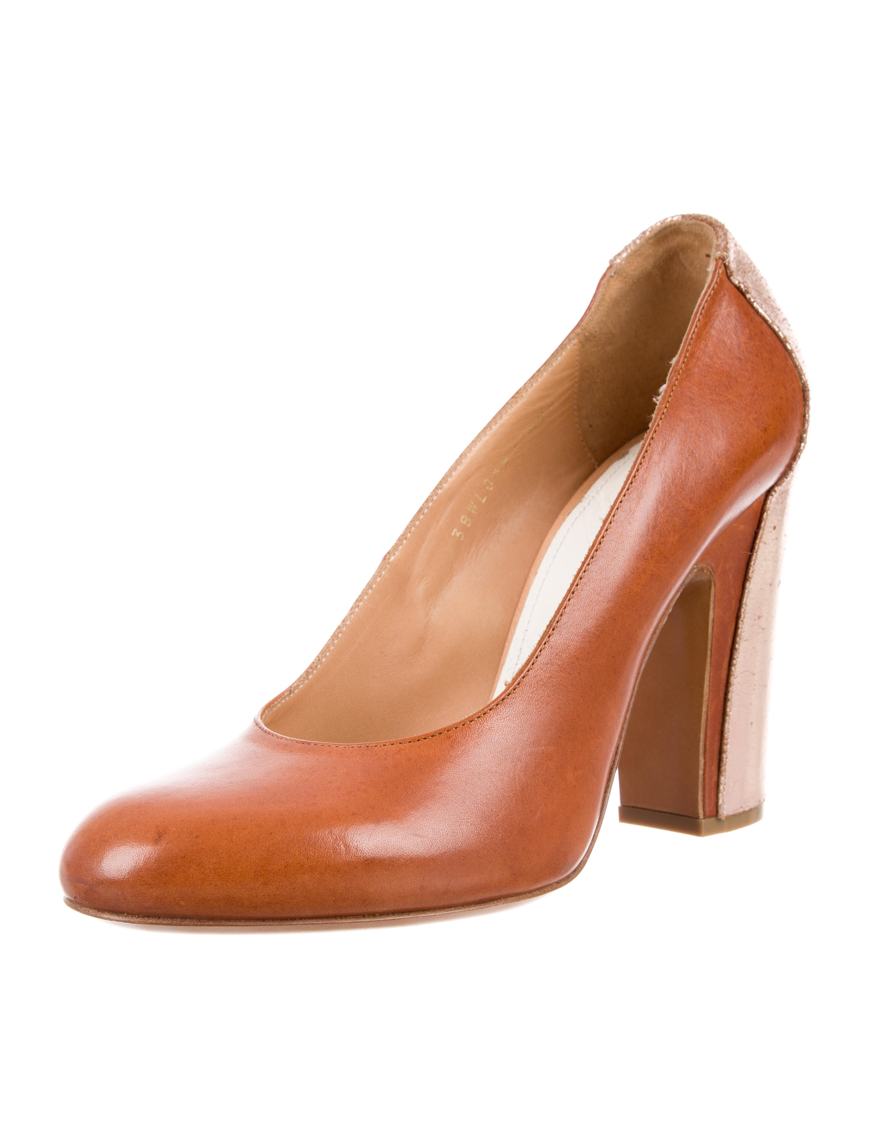 perfect cheap online discount recommend Maison Margiela Metallic-Trimmed Leather Pumps Inexpensive for sale cheap shop for shop for sale 3SwYK