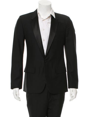 Maison Margiela Satin-Trimmed Wool Blazer None
