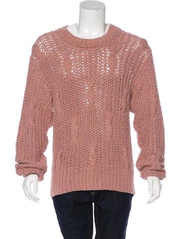 Maison Margiela 2017 Silk Cable Knit Sweater None