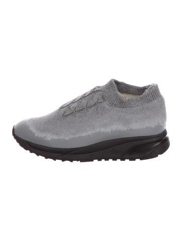 Maison Martin Margiela Knit Slip-On Sneakers None