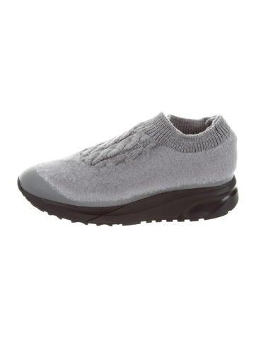 Maison Margiela Woven Slip-On Sneakers None