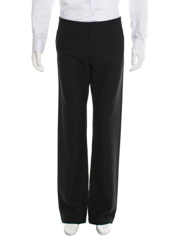 Maison Margiela Wool Flat Front Pants None