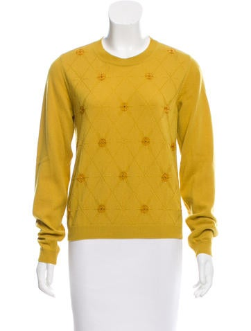 Maison Margiela Embellished Cashmere Sweater None