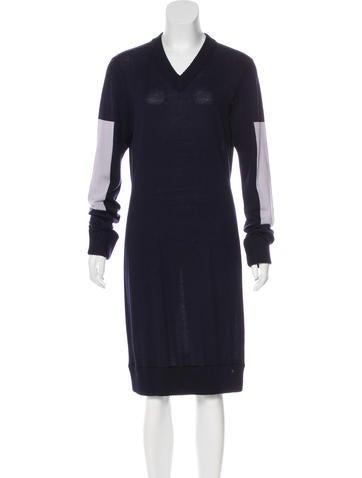 Maison Margiela Wool Colorblock Dress None
