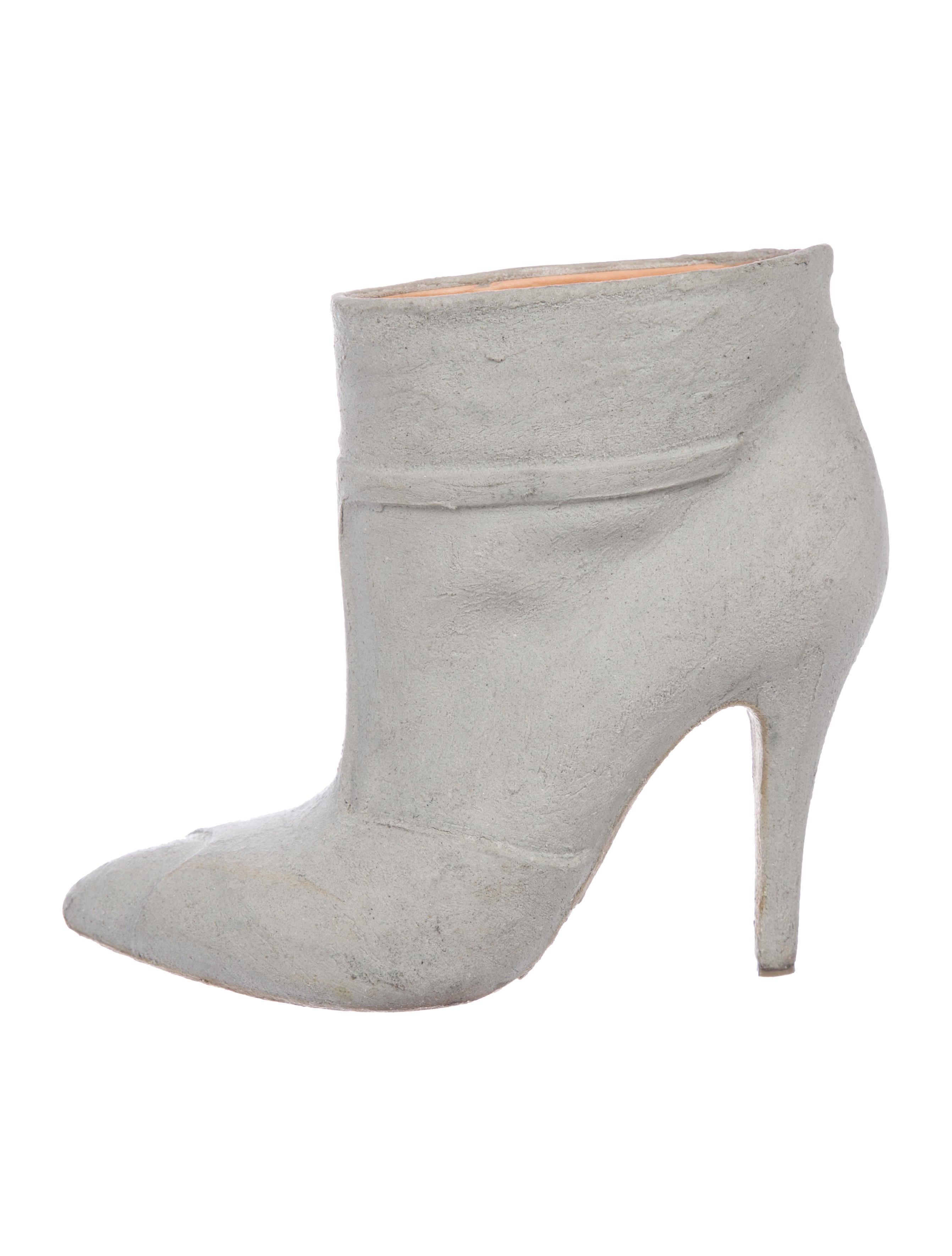 tumblr sale online Maison Margiela Graffiti Cement-Dipped Ankle Boots buy cheap for nice free shipping extremely pXhgek