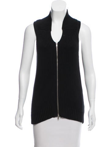 Maison Margiela Sleeveless Rib Knit Sweater None