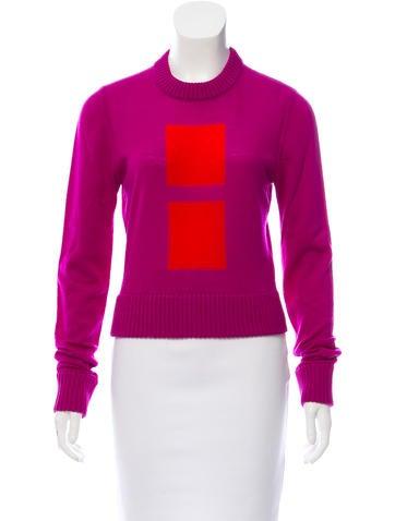Maison Margiela Geometric Intarsia Wool Sweater None