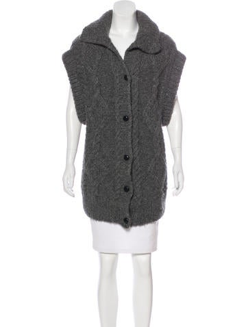 Maison Margiela Alpaca Knit Cardigan None