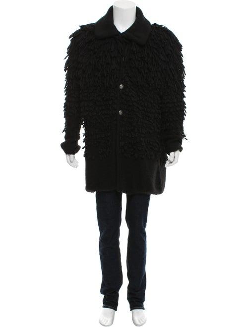 Maison Margiela Alpaca Shearling Jacket black